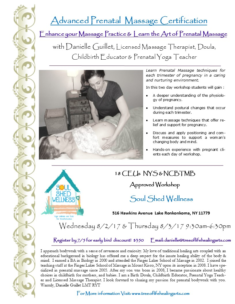 Advanced Prenatal Massage Certification